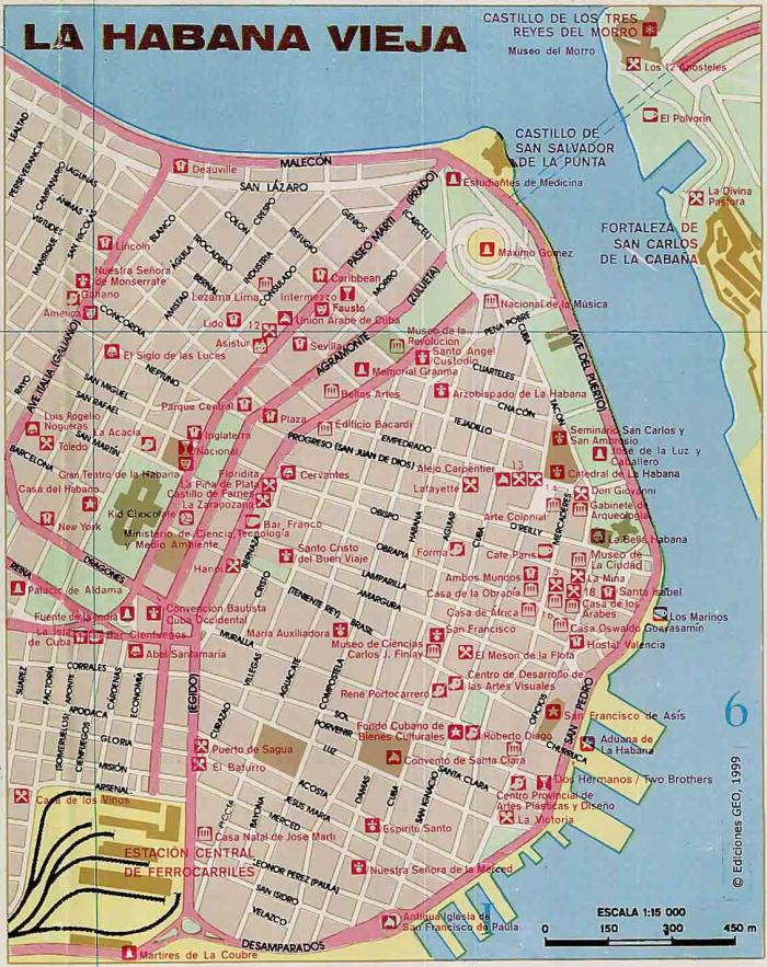 map of Old Havana